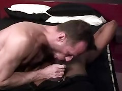 Gay athletic DILF wants to be stuffed with hard black cock