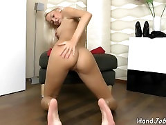 Karol Lilien totally nude masturbation tease.and dressing up in black stock