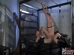 Hairy Leather Daddy and Boy Fucking