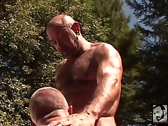 Ripped Muscle Bears Fuck Poolside
