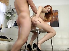 FiRSTANALQUEST: REDHEAD ANAL FROM A BIG COCK THAT STRETCHES HER ASSHOLE