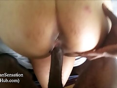 Pregnant Asian Wife Getting That BBC Creampie