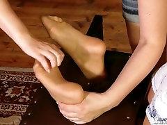 Lenka Tickled In Pantyhose Only Nylon Feet Tickling
