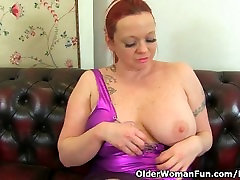 British milf Summer Angel Lee works her nyloned pussy