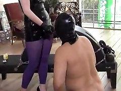 latex Mistress strapon fuck slave