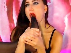 brunette in black pantyhose worship her nylon feet