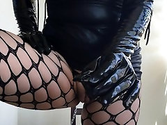 BDSM RolePlay with chains. Clean my pussy from his cum. By HotwifeVenus.