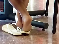 Candid Ebony Feet in Cafeteria 20