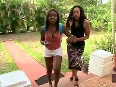 Ebony lesbian seducing straight teen