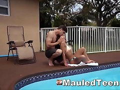 Submissive Teen Hottie Smacked Cock Gagged Then Rough Slammed