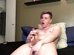 Blonde Teen Twink Boy Anal Cum Session