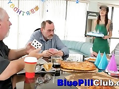 Gorgeous Teenage Cockslut Fucks Old Man For His Birthday Gift