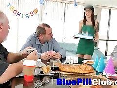 Hot Teenager Chick Fucks Old Grandpa For His Birthday Present