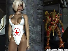 3D Busty Babe Gangbanged by Aliens!