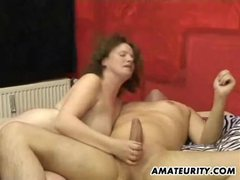 Chubby amateur housewife home fuck action