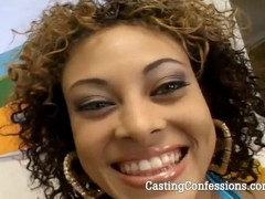 Check out this hot babe take his cock deep inside of her pussy at POV Casting.com