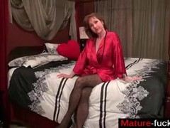 Find her on MATURE-FUCKS.COM - Pantyhosed milf cant control her ragin