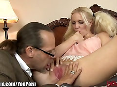 Pigtailed Babysitter Anal Creampied