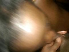 Young Ebony Teen Blowjob with Huge Cumshot. Beauty12