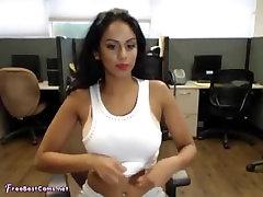 Indian Desi Masturbates To Orgasm In Work Office On Webcam
