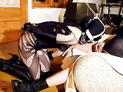 Bitch leash deepthroat ring gag training
