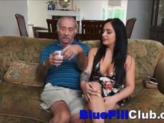 Big Titties Latin Teen Babe Sucks Well Hung Old Man