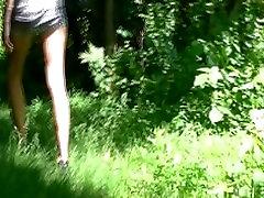 Wife caught masturbating in the woods