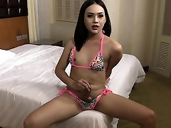 Pretty ladyboy gets her asshole screwed hard and deep