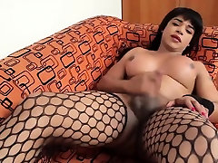 Fascinating tranny playgirl cannot stop teasing her dong