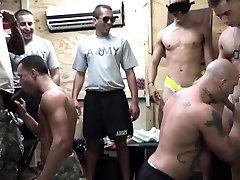Uniformed military men assfucking in barracks