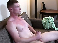 Horny Nathan Vine jerking his fat dick until he cums hard