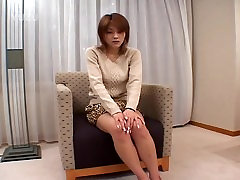 Sweet shy Asian masturbates
