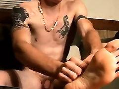Young twink feet gay porn Str8 Boy Foot Fun And Jack Off