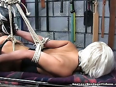 Tied up slut Emi is toy fucked intensively in kinky hd big tuts porn clip