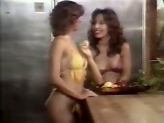 Stunning vintage black head gives titfuck while two lesbians eat pussies