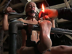 Busty blond hottie is not against hard BDSM fuck with her grey haired man