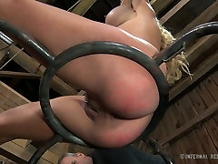 Blue eyed sexy blondie with big boobies enjoyed hard arabs forced anal fuck with her hot stud