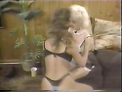 Vintage porn with two kinky sluts pleasing each other