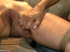 Boobalicious mistress punishes her slave in rough BDSM way