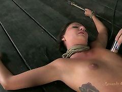 Tattooed miae khalikha fan Cassandra Nix is treated in rough way