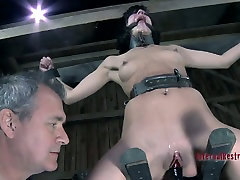 Elise Graves moans with pain in bdsm crazy video