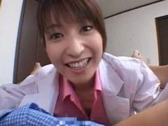 Ann Nanba Asian nurse shows off her cute