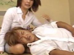Erotic mature japanese cock sucking