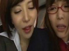 japanese shocking FUTANARI lesbian