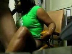 Sexy ebony GF gets pussy slammed hard