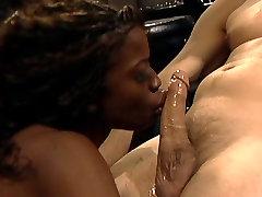 Ebony with nice naturals butt-fucked