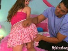 White teen panties getting wet