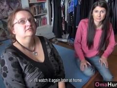 Teen girl licks chubby mature big boobs