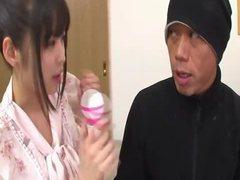 Lovely petite babe Yura gets fucked hard by a strange guy