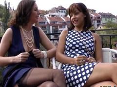 Stockings brit lick ebony